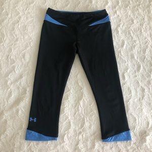 Black & Blue UNDER ARMOUR Capri Pants